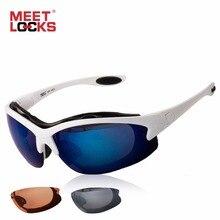 MEETLOCKS Cycling Glasses Sports Sunglasses Eye Goggles Bike Anti-Fog Lens UV 400 Eyewear For Outdoor Cycling oculos ciclismo