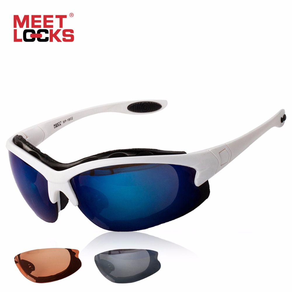 MEETLOCKS Γυαλιά ποδηλάτων Αθλητικά γυαλιά ηλίου Γυαλιά γυαλιών οράματος Ποδήλατα αντικλεπτικού φακού UV 400 Γυαλιά για υπαίθρια ποδηλασία oculos ciclismo