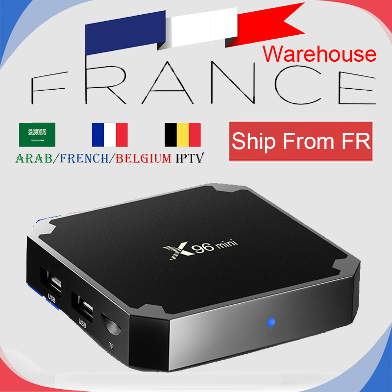 French Warehouse X96mini S905W Smart TV Android Box with 1Year NEO IPTV 1200 French Arabian Belgium European Live Channels&VOD