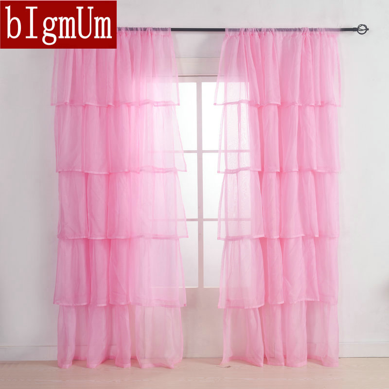 popular pink ruffled curtainsbuy cheap pink ruffled curtains lots, Bedroom decor