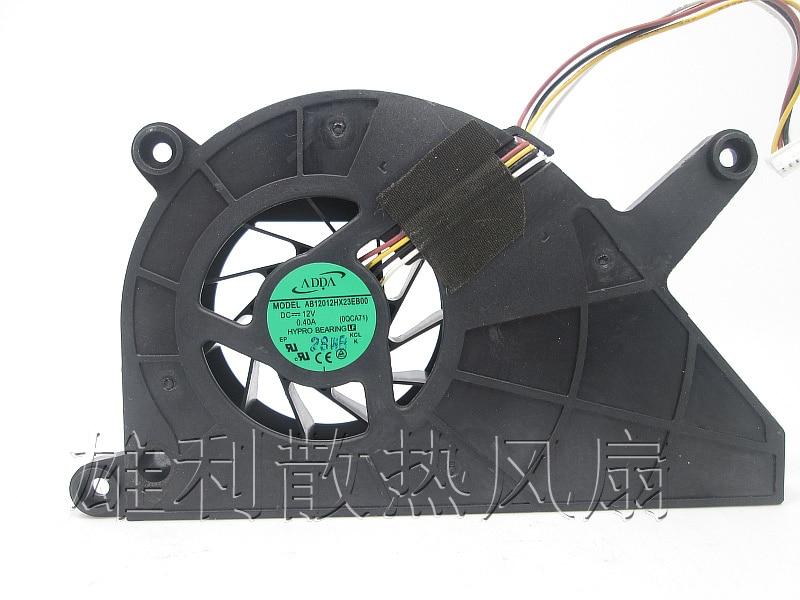 ADDA AB12012HX23EB00 Server Square Fan DC12V 0.40A 4-wire adda ad7512hb 7530 dc12v 0 24a