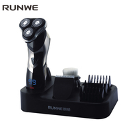 RUNWE 3 in 1 Triple Blade Electric Shaver For Men Hair Clipper Trimmers 110 240V Professional Men's Rechargeable Shaver Razors