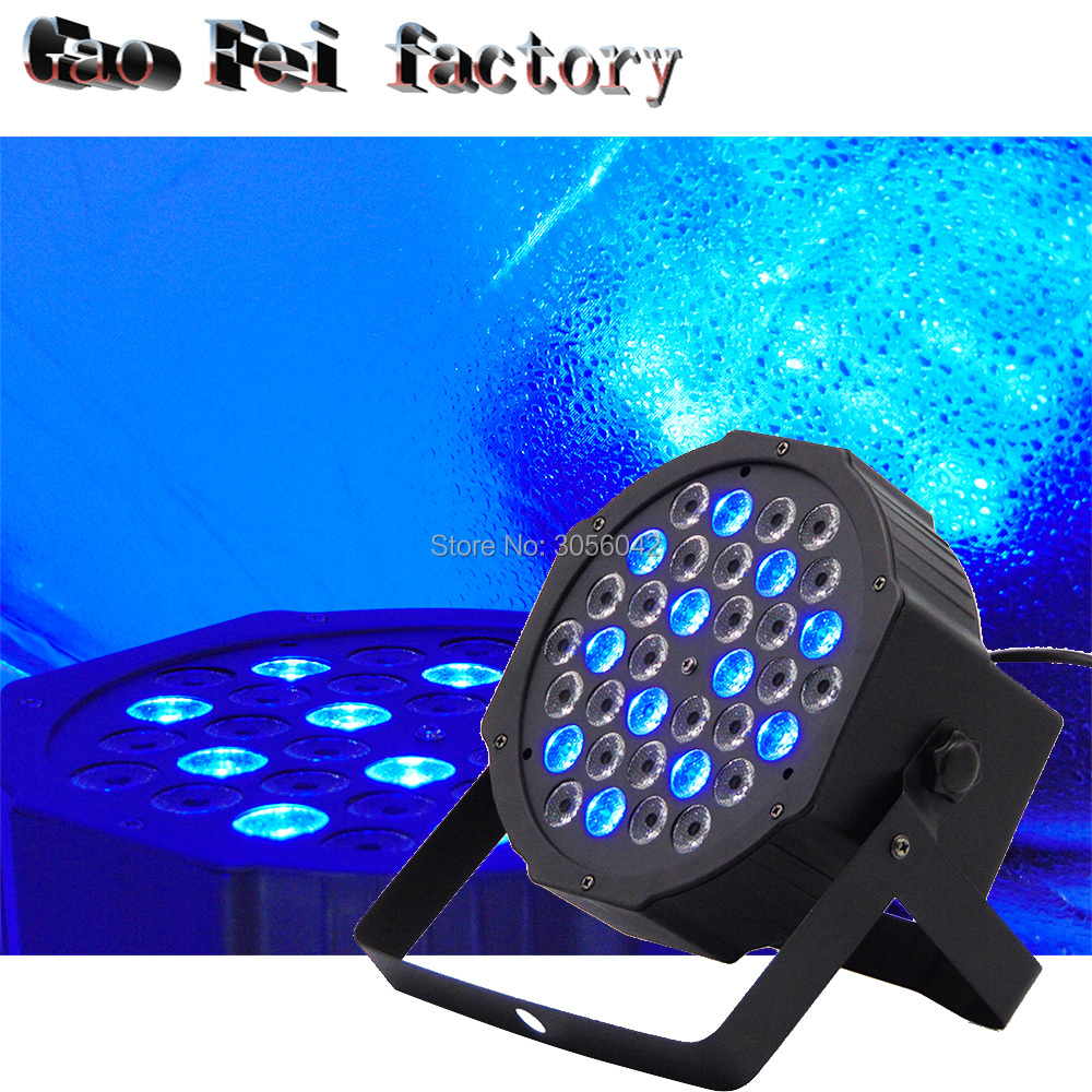 Stage Light 36x3W Flat LED Par RGB DMX512 Disco Lamp KTV Bar Backlight Laser Beam Projector Dmx Controller Spotlights