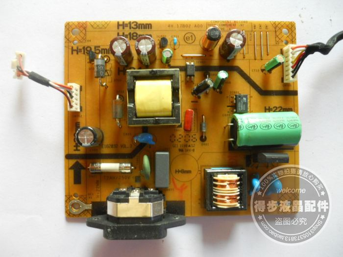 Free Shipping>Original  ST2420L power supply board board 4H.17B02.A00 Good Condition new test package-Original 100% Tested Worki free shipping original l1710 power board 715g2655 1 2 powered board package test good condition new original 100% tested worki