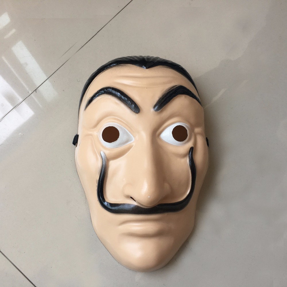 Salvador Dali Masks 2018 Hot Sale La Casa De Papel Clown Face Cosplay ABS Masks Halloween Party Masquerade Props3