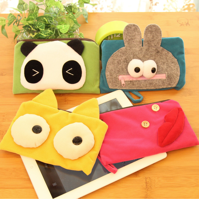 Pipkin beans cartoon coin purse mobile phone bag cosmetic bag multifunctional wallet clutch pencil case female