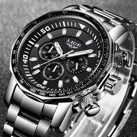 Relogio Masculino LIGE лучший бренд класса люкс Нержавеющаясталь часы Для мужчин моды кварцевые часы Для Мужчин's Повседневное Водонепроницаемый сп