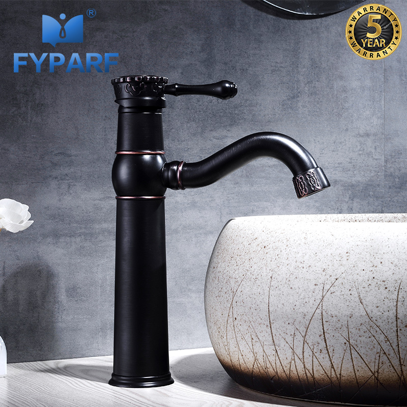 FYPARF Bathroom Faucet Hot Cold Faucet for The Sink Solid Brass Faucets Bathroom Sink Mixer Water Taps Bathroom Vanities China