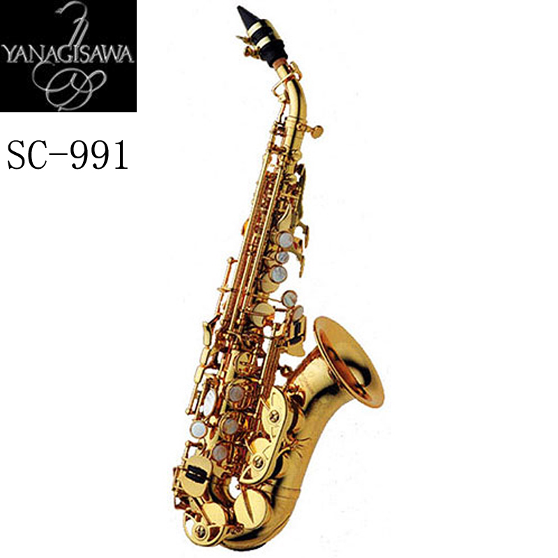 New arrive Japan Yanagisawa Gold Lacquer Soprano Saxophone B-flat Saxophone Musical Professional Fast Shipping japan yanagisawa new t 992 b flat tenor saxophone top musical instrument tenor saxophone performances shipping