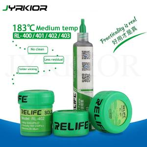 Jyrkior Relife 183 Medium Temperature No-Clean Solder Paste Flux RL-400401402403 SolderTin Sn63Pb67 For Soldering Iron
