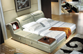 Muebles de dormitorio muebles de dormitorio moderno con cuero genuino de china para king size