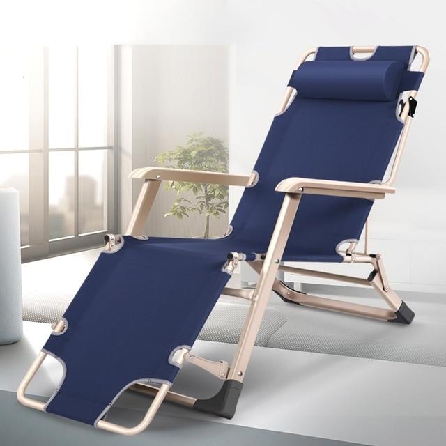 Garden Outdoor Lounge Folding Beach Deck Chair Recliner Chairs Portable