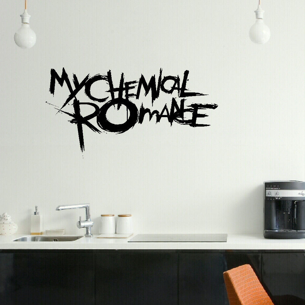 popular graphic wall decals buy cheap graphic wall decals lots my chemical romance emo bedroom wall mural art sticker graphic matt vinyl wall decals vinyl stickers