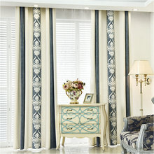 Cashmere High Quality Luxury Curtain For Bedroom Living Room Modern Cortinas Fabric Window Thick  Blackout Curtain
