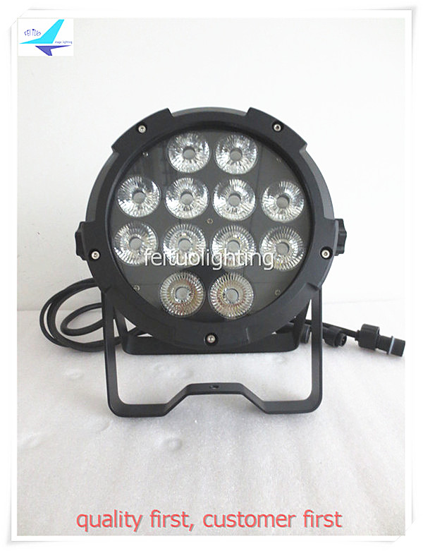 free shipping 6pcs/lot Outdoor Bright 12x15w RGBWA 5IN1 Led Par Light Waterproof Par64 DMX Strobe Stage Par Can DJ Wash Lighting