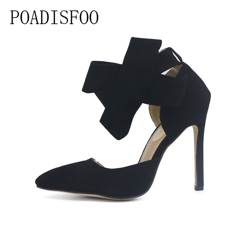 2017 New Pointed High Heels Female Fine With  Single Shoe Shallow Mouth Sexy Bow women  shoes Nightclub  .ZL-621 spring summer high heels 2016 korean thin heels with a fine pointed shallow mouth sexy wedding shoes wear comfortablesuede shoes