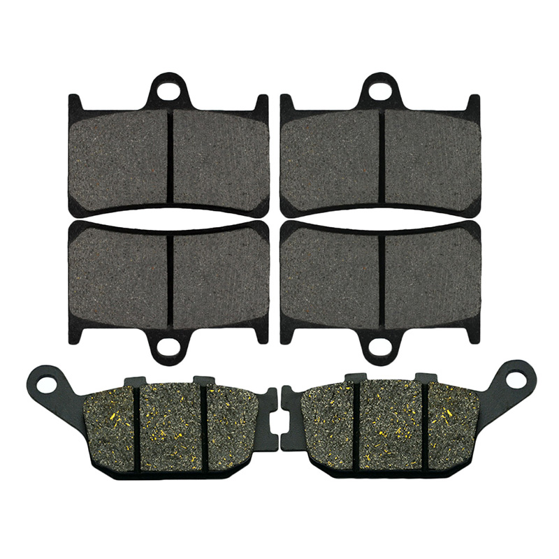 AHL Motorcycle Front And Rear Brake Pads For Yamaha YZF R6 600 (2003-2015) YZF R1 1000 (2004-2006) FZ6 (2007-2009) mfs motor motorcycle part front rear brake discs rotor for yamaha yzf r6 2003 2004 2005 yzfr6 03 04 05 gold