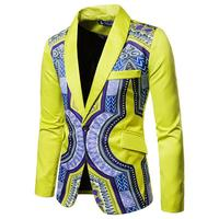 4 Colors Big and Tall Size African Print Suits For Men Fashion Clothes Streetwear Formal Blazer Jackets Wedding Party Stage Wear