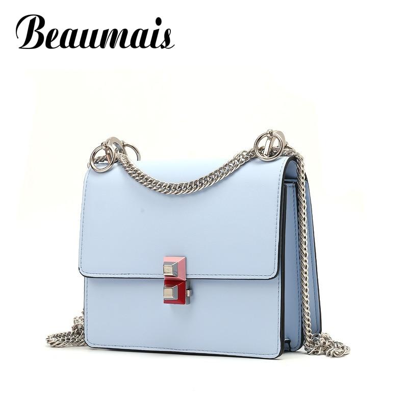 Beaumais Pu Leather Women Messenger Bag Ladies Chain Shoulder Crossbody Bags For Women Flap Leather Handbags Wonen Bolsas DB6101