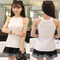 2016 New Spring Summer Fashion women tanks Knitted Camis Slim High elastic Halter Neck Sexy Strapless casual women Tops Vest