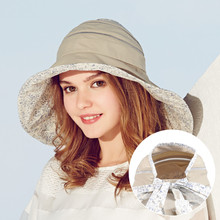 Kenmont brand Summer Style Women Bucket Hats Fashion Beach Sun UV Protection Casual Cap Panama Empty Top for Ponytail 3112