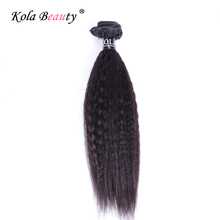 1Pcs 11A Brazilian Coarse Yaki Virgin Hair Remy Italian Yaki Straight Hair 100% Unprocessed Kinky Straight Human Hair Bundles