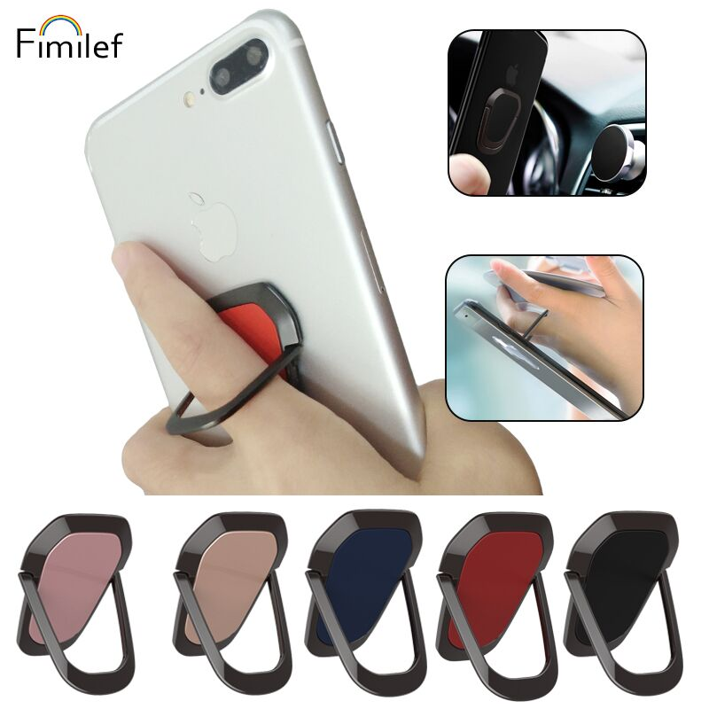 Fimilef Universal Stent Mobile Phone Holder Stand Finger Ring Magnetic For Cute Cell Smart Phone Holder For Iphone X