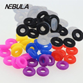 10pieces/lot Colorful Silicon Rubber Stopper Rings Spacer Bead Charm Fit European Bracelets