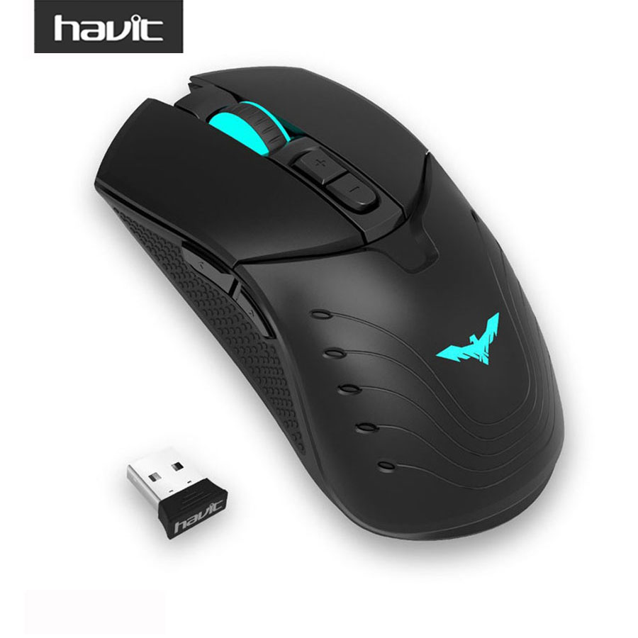 HAVIT HV-MS995GT 3500DPI with 7 programmable Buttons Optical Wireless Gaming Mouse Rechargeable Computer Mouse for PC Laptop