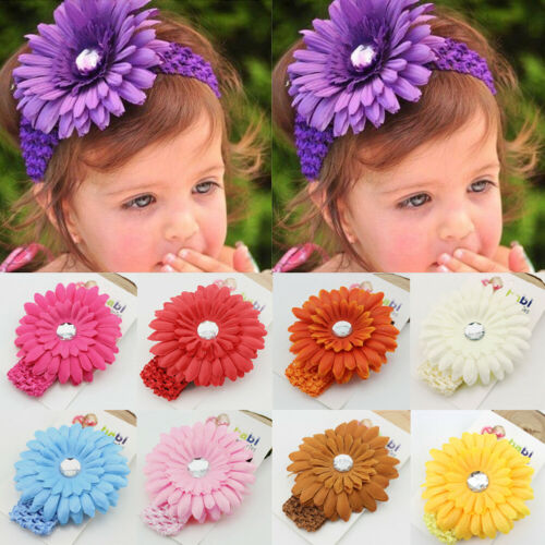 IMCUTE Baby Girls Infant Toddler Daisy Flower Elastic Headband Hair Band in Hair Accessories from Mother Kids