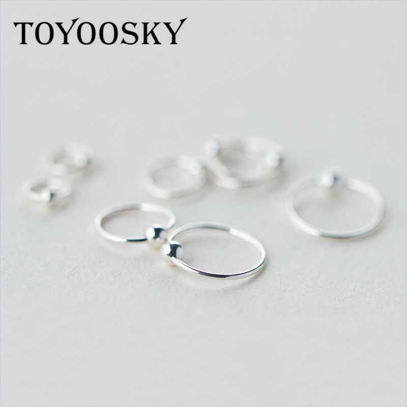 s925 Sterling Sliver Small Tiny Ball Earrings 6mm 8mm 10mm
