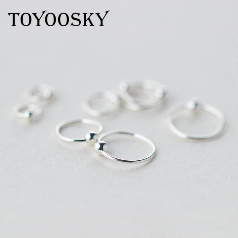 s925 Cercei cu bile mici minusculi 6mm 8mm 10mm 12mm Minimalist Huggie Hoop Piercing Tragus Helix Cartilage 2017