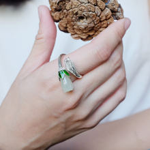 L & p элегантные кольца из натурального нефрита с драгоценными