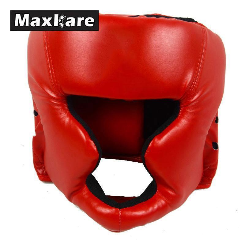 MaxKare Boxing Helmet Closed Type Boxing Head Guard Sparring MMA Muay Thai Kick Brace Head Protector