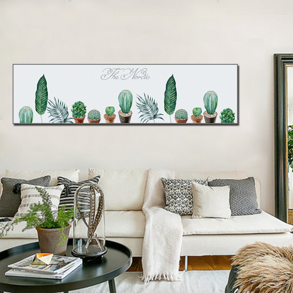 Nordic Style Minimalist Canvas Painting And Botanical Leaves Canvas Living Room Decoration Mural Cactus Posters And Prints in Painting Calligraphy from Home Garden