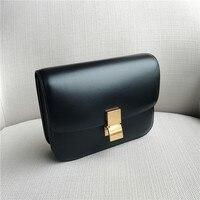 Новые туфли из натуральной кожи Для женщин Shouder сумка маленький дизайнер черная сумочка для Для женщин