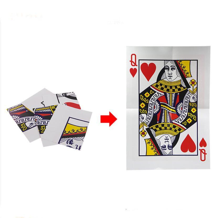 Queen Restored Magic Tricks Magia Trick Toy Children Easy Close Up Magie
