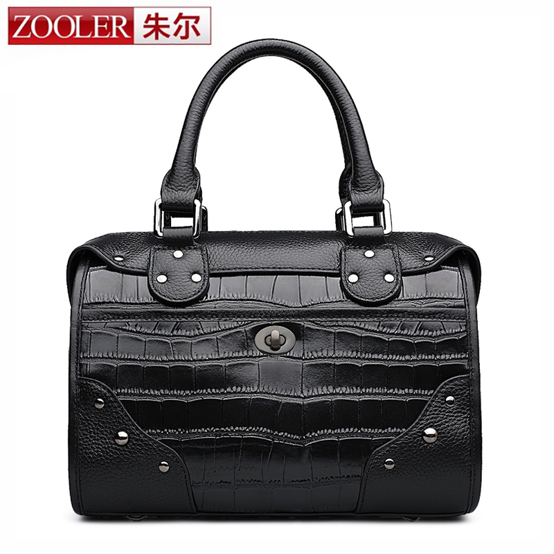 ZOOLER New arrival genuine leather handbags woman design fashion pink bags luxury brand shoulder bags ladies cowhidebags #T-6151 zooler 2017 new arrival genuine leather handbags woman design top quality crossbody bag luxury brand red ladies bags hs 3211