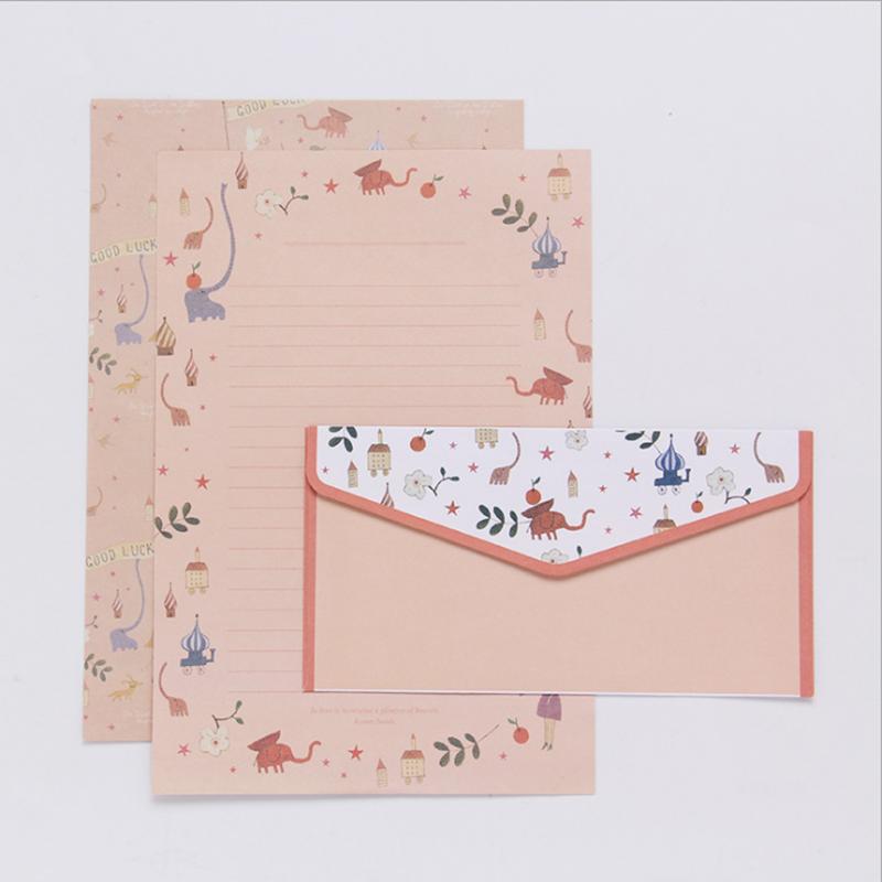 Small Letter Paper Literki Set Envelopes Creative Retro Cartoon Small Flower Envelope Set Envelopes For Letters School Supplies