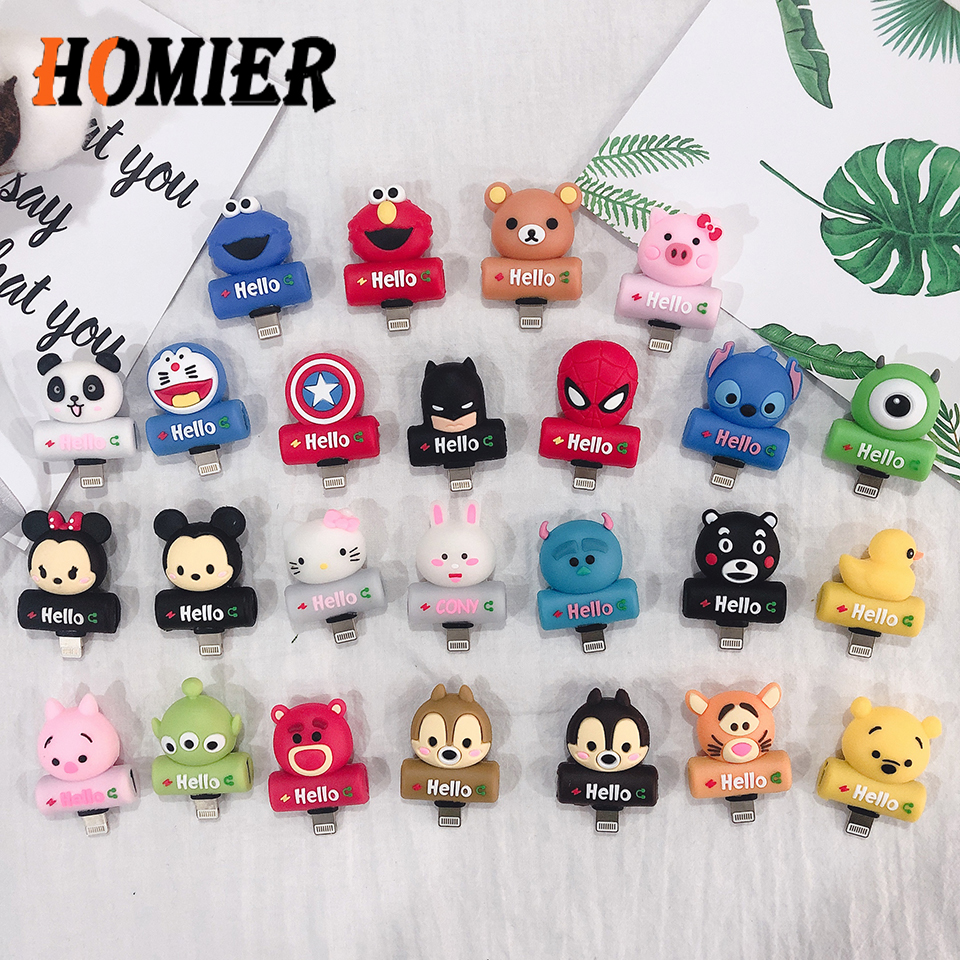 Cute Cartoon 2 in 1 Audio Adapter For iPhone 5s 5C 6 6s 7 8 Plus X XS MAX XR Charger And Headphone Splitter Animals Phone socket