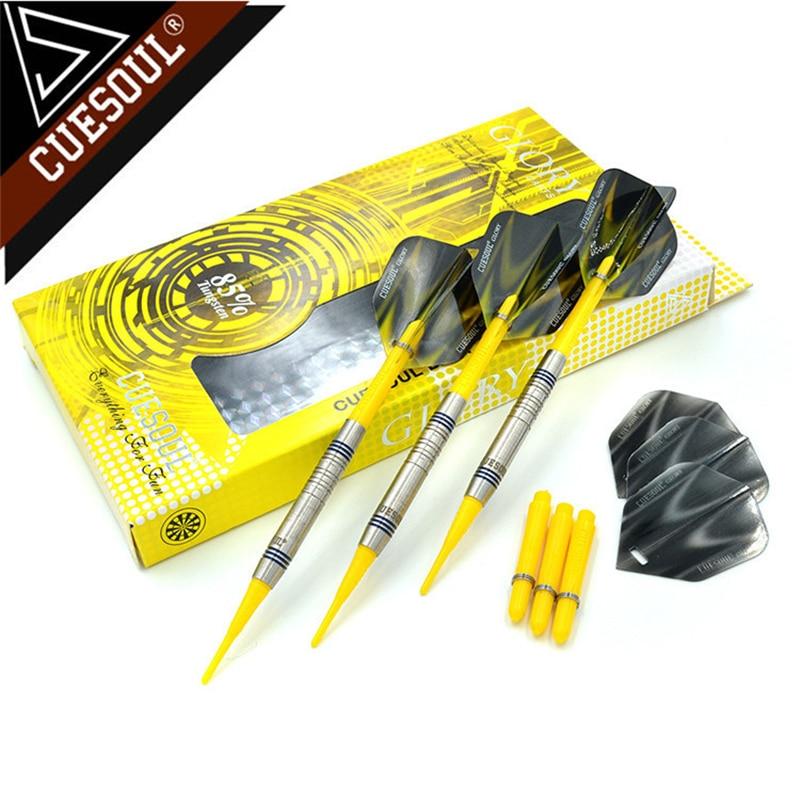 CUESOUL 85% Tungsten Darts 18g 14cm Professional Soft Tip Darts Electronic Darts CSGL-N2204 new cuesoul 3pcs set 18g 15cm tungsten darts professional game soft tip darts skywolff2201