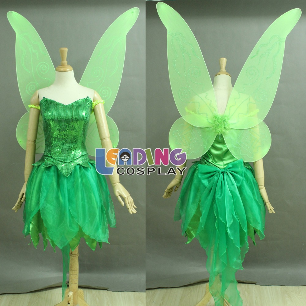 custom made tinkerbell costume tinker bell dress peter pan cosplay costume dressincludes the wing in anime costumes from novelty special use on