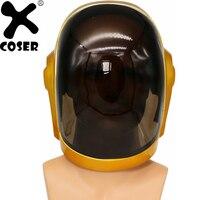 XCOSER Daft панк Guy Manuel полный шлем косплей реквизит фестиваль Праздник Вечеринка Косплей крутые шлемы костюм аксессуары