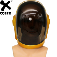 XCOSER Daft Punk Guy Manuel Full Head Helmet Cosplay Props Festival Holiday Party Cosplay Cool Helmets Costume Accessories