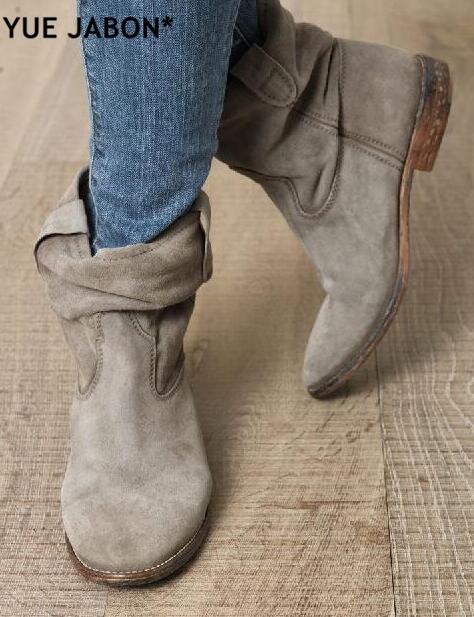 Automne picture Rue Style Femmes Coins Accrue Cowboy Mujer Bout picture Picture 3 Bottines Dames Qualité picture 4 Rond Talon Printemps 1 Bottes Haute 2 Cheville tdxQrsCh