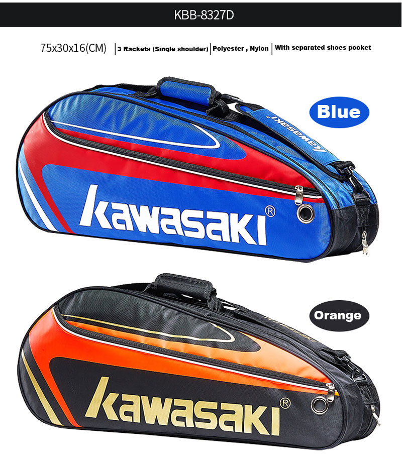 Shoes Frank Kawasaki Badminton Bag Tennis Racket Bag Single Shoulder Bag 1-3 Racket Tennis Handbag Badminton Raquete Pack Badminton Training
