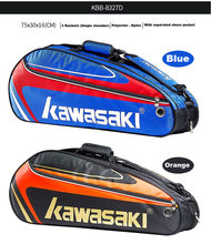 Kawasaki Badminton Bag Tennis Racket Bag Single Shoulder Bag 1-3 Racket Tennis Handbag Badminton Raquete Pack Badminton Training(China)