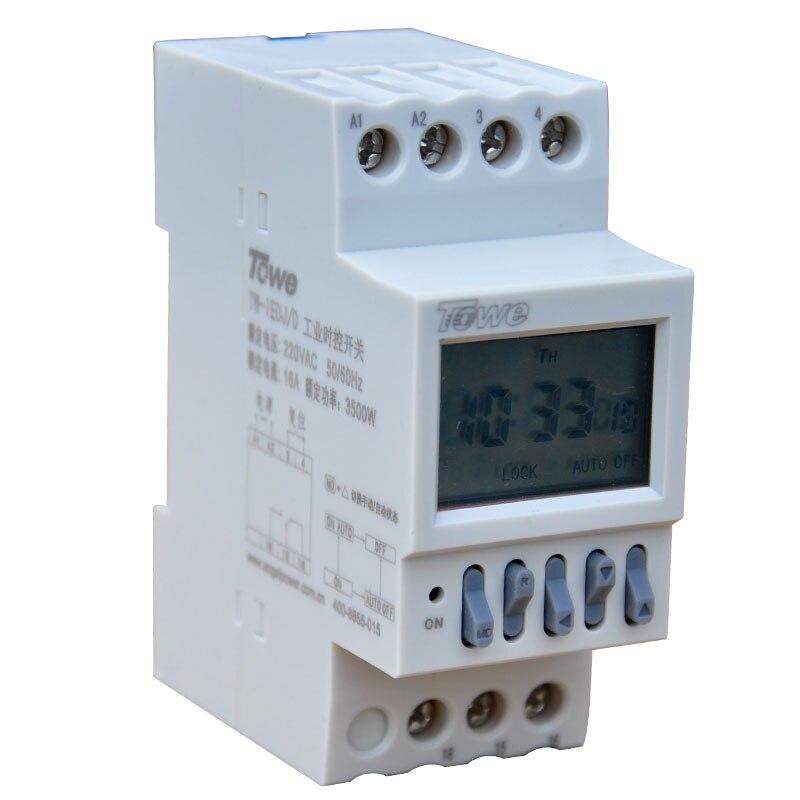 Gehorsam Towe Tw-iedj/d 220 V 3500 Watt Industrie-timer Drei Phase Power Countdown Timer Schalter Schiene/mikrocomputer Steuerschalter