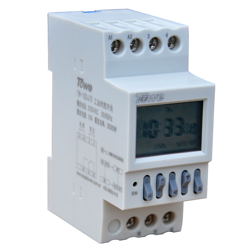 TOWE TW-IEDJ/D 220V 3500W  Industrial timer three-phase power countdown timer switch rail / microcomputer control switch