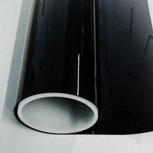 50cm500cm 5% VLT negro oscuro película opaca para ventana de coche Auto comercial de aislamiento de calor película de Protección de Privacidad película Solar
